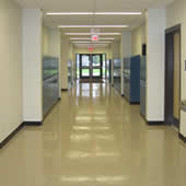 High School classrooms, hallways, laboratory, library and lobby