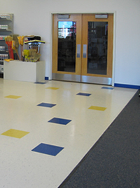 Retail Store Flooring - Vinyl Tiles and Carpeting