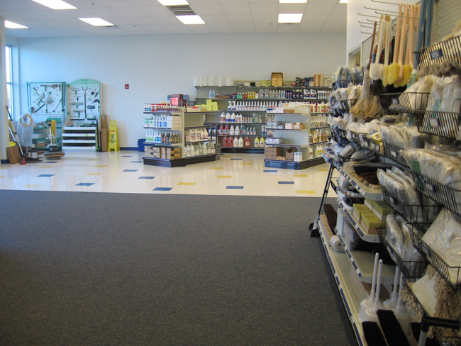 Retail Store Vinyl Tile & Carpeting