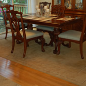 Residential Dining Room Hardwood and Area Rug