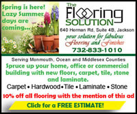Freshen up your home, office or commercial building for Spring! The Flooring Solution. Your solution for Fabulous Flooring and Finishes.  10% Off all flooring with mention of this ad